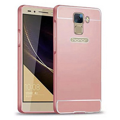 Microsonic Türk Telekom Honor 7 Kılıf Luxury Mirror Rose Gold Cep Telefonu Kılıfı