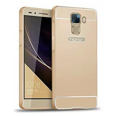 Microsonic Türk Telekom Honor 7 Kılıf Luxury Mirror Gold Cep Telefonu Kılıfı