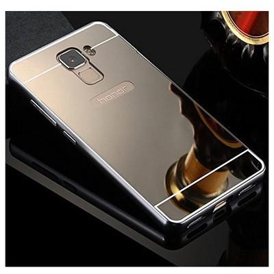 Microsonic Türk Telekom Honor 7 Kılıf Luxury Mirror Gümüş Cep Telefonu Kılıfı