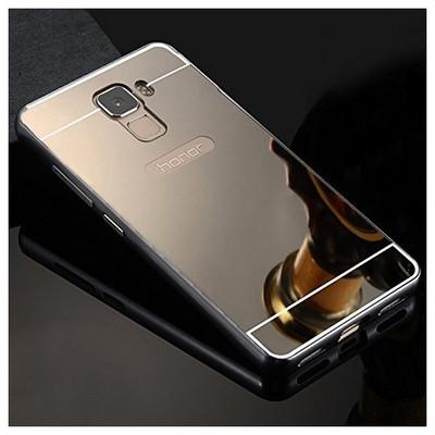 Microsonic Türk Telekom Honor 7 Kılıf Luxury Mirror Siyah Cep Telefonu Kılıfı