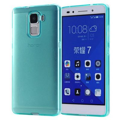 Microsonic Türk Telekom Honor 7 Kılıf Transparent Soft Mavi Cep Telefonu Kılıfı