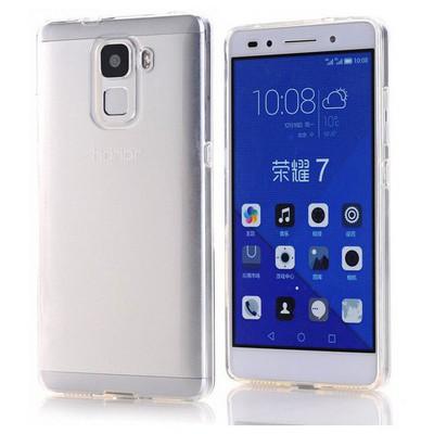 Microsonic Türk Telekom Honor 7 Kılıf Transparent Soft Beyaz Cep Telefonu Kılıfı