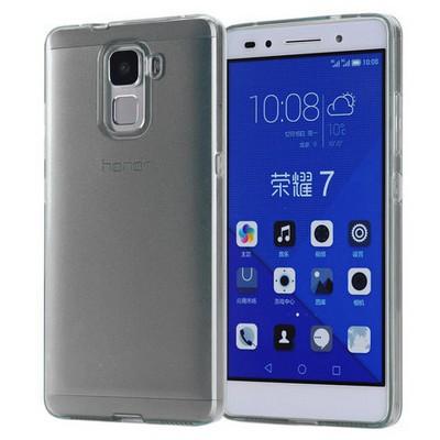 Microsonic Türk Telekom Honor 7 Kılıf Transparent Soft Siyah Cep Telefonu Kılıfı
