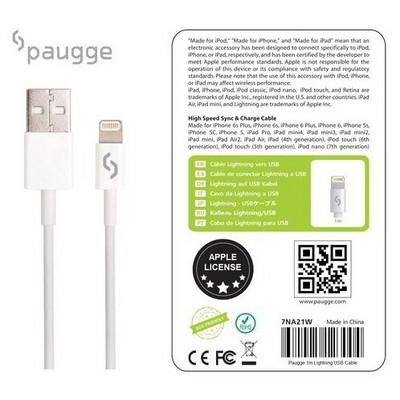 Paugge 7na21w Apple Mfi Lisanslı Orjinal Lightning Usb Data Ve Şarj Kablosu Şarj Cihazları