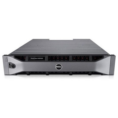 Dell MD34S2524DC-001 PowerVault MD3420, 12G SAS, 2U-24 drive NAS Depolama Ünitesi