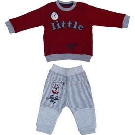 Aziz Bebe 2558 Erkek Bebek Ikili Takım Kırmızı 9-12 Ay (74-80 Cm) Erkek Bebek Takım