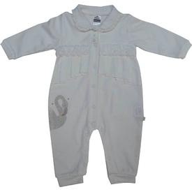 Caramell Tk2213 Kız Bebek Tulum Ekru 9-12 Ay (74-80 Cm) Bebek Tulumu