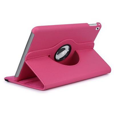 Microsonic Ipad Pro 9.7 Kılıf 360 Dönerli Stand Deri Pembe Tablet Kılıfı