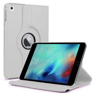Microsonic Ipad Pro 9.7 Kılıf 360 Dönerli Stand Deri Beyaz Tablet Kılıfı