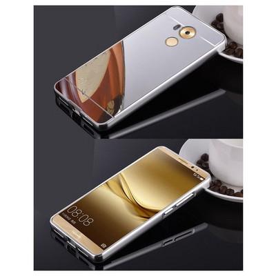 Microsonic Huawei Mate 8 Kılıf Luxury Mirror Rose Gümüş Cep Telefonu Kılıfı