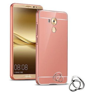 Microsonic Huawei Mate 8 Kılıf Luxury Mirror Rose Gold Cep Telefonu Kılıfı