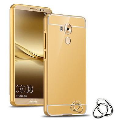 Microsonic Huawei Mate 8 Kılıf Luxury Mirror Gold Cep Telefonu Kılıfı
