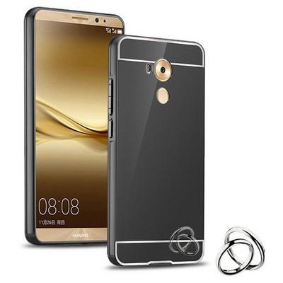 Microsonic Huawei Mate 8 Kılıf Luxury Mirror Siyah Cep Telefonu Kılıfı