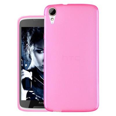 Microsonic Htc Desire 828 Kılıf Transparent Soft Pembe Cep Telefonu Kılıfı