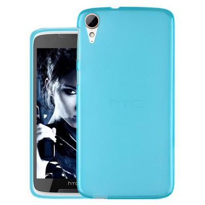 Microsonic Htc Desire 828 Kılıf Transparent Soft Mavi Cep Telefonu Kılıfı