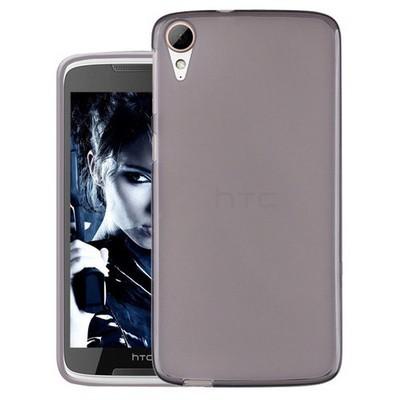 Microsonic Htc Desire 828 Kılıf Transparent Soft Siyah Cep Telefonu Kılıfı