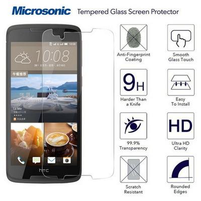 Microsonic Htc Desire 828 Temperli Cam Ekran Koruyucu Kırılmaz Film Ekran Koruyucu Film