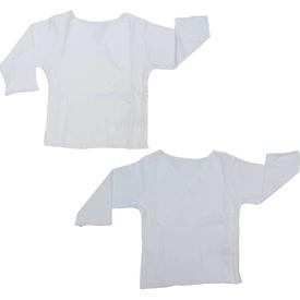 Baby Center S77602 2li Organik Bebek Iç Zıbın Beyaz 0 Ay (50-56 Cm) Erkek Bebek Body
