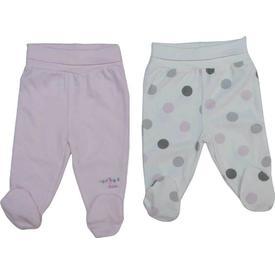 Bebetto T1012 Istanbul Penye Patikli Bebek Pantolon 2 Li Pembe 3-6 Ay (62-68 Cm) Pantolon & Şort