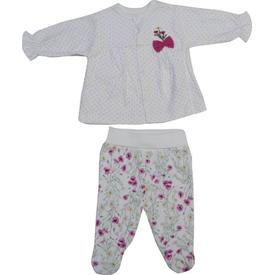 Bebetto F835 Carnation Penye Mini Bebek Pijama Takımı Fuşya 3-6 Ay (62-68 Cm) Kız Bebek Pijaması