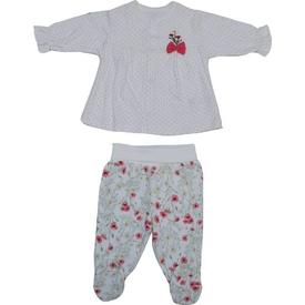 Bebetto F835 Carnation Penye Mini Bebek Pijama Takımı Narçiçeği 3-6 Ay (62-68 Cm) Kız Bebek Pijaması