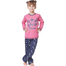Roly Poly 2854 Uzun Kol Kız Çocuk Pijama Takımı Pembe 4 Yaş (104 Cm) Kız Bebek Pijaması