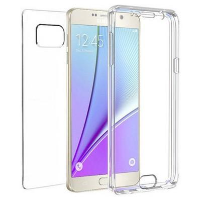 Microsonic Samsung Galaxy Note 5 Kılıf 6 Tarafı Tam Full Koruma 360 Clear Soft Şeffaf Cep Telefonu Kılıfı