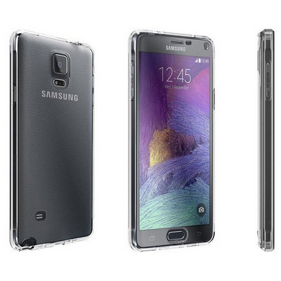 Microsonic Samsung Galaxy Note 4 Kılıf 6 Tarafı Tam Full Koruma 360 Clear Soft Şeffaf Cep Telefonu Kılıfı