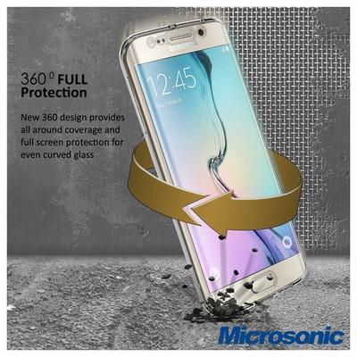Microsonic Samsung Galaxy S6 Edge Kılıf 6 Tarafı Tam Full Koruma 360 Clear Soft Şeffaf Cep Telefonu Kılıfı