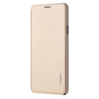 Microsonic Rock Touch Samsung Galaxy A7 2016 Kılıf Side Leather Gold Cep Telefonu Kılıfı