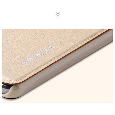 Microsonic Rock Touch Samsung Galaxy A5 2016 Kılıf Side Leather Gold Cep Telefonu Kılıfı