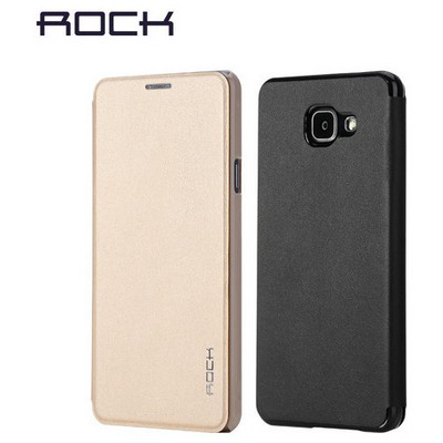 Microsonic Rock Touch Samsung Galaxy A5 2016 Kılıf Side Leather Siyah Cep Telefonu Kılıfı