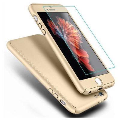 Microsonic Iphone 5s Kılıf Komple Full Gövde Koruma Cam Film Dahil Gold Cep Telefonu Kılıfı