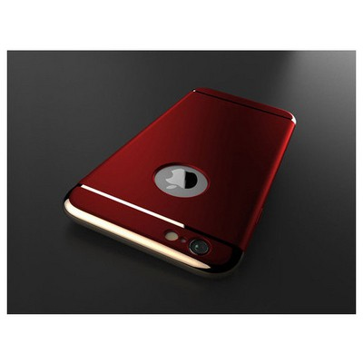 Microsonic Iphone 6s Plus Kılıf Vintage Luxury Kırmızı Cep Telefonu Kılıfı