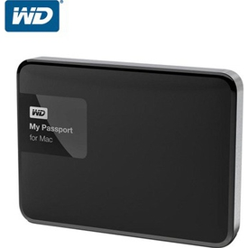 "WD My Passport 1TB Western Digital WDBJBS0010BSL-EESN For Mac 2.5"" USB3.0 Siyah Taşınabilir Disk"