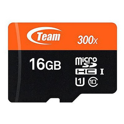 Team TMMSD16GCUHS 16GB 45Mb/s 300x SDHC UHS-1 Flash Kart Micro SD Kart
