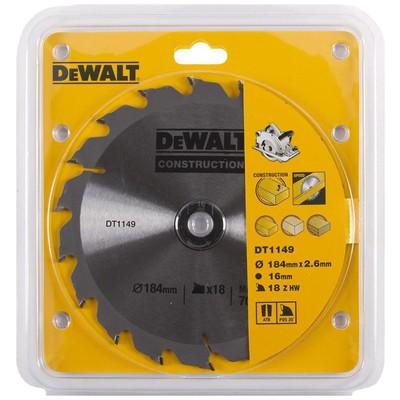 Dewalt Dt1149 1 Adet 184x16mm 18 Diş Daire Testere Bıçağı Makine Aksesuarı