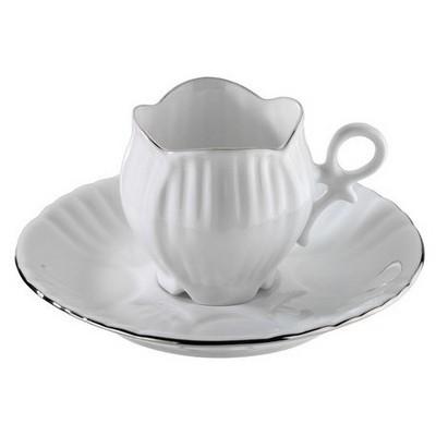 Arte Bianco Aizonai 4 Parça Kahve Fincan Takımı Çay Seti