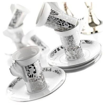 Arte Bianco Ateştopu Çay Takımı Çay Seti