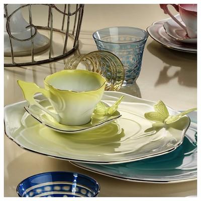 Arte Bianco Belce Fıstık Yeşili El Yapımı Tek Kişilik Kahve Ikram Seti Çay Seti