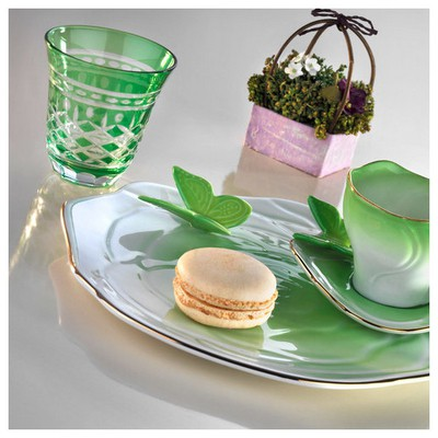 Arte Bianco Belce Açık Yeşil El Yapımı Tek Kişilik Kahve Ikram Seti Çay Seti