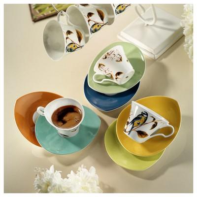 Kütahya Porselen Damla 6 Kişilik Kahve Fincan Takımı Çay Seti