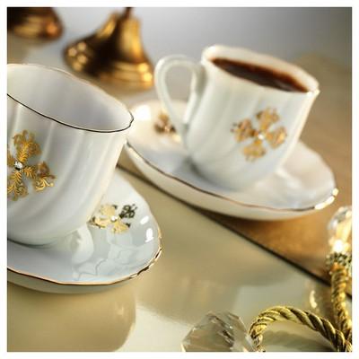 Kütahya Porselen Elips Kahve Takımı Çay Seti