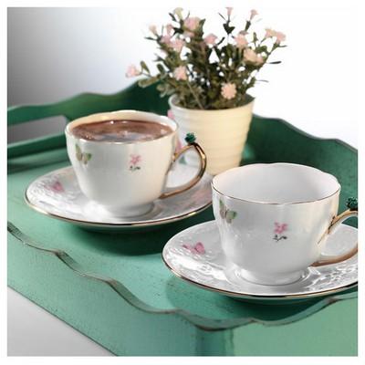 Arte Bianco Gülsüm Kahve Fincan Takımı Çay Seti
