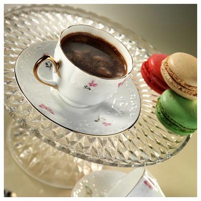 Arte Bianco El Yapımı Kelebekli Kahve Fincan Takımı Çay Seti