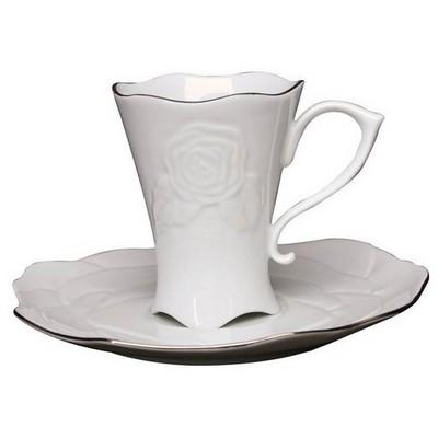 Arte Bianco Gül Tek Kişilik Çay Fincan Takımı Çay Seti