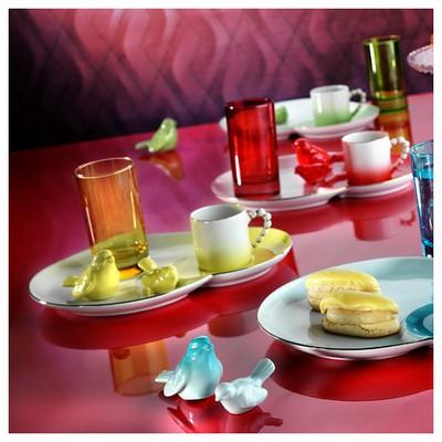 Arte Bianco El Yapımı Kırmızı Ipek Ikram Takımı Çay Seti