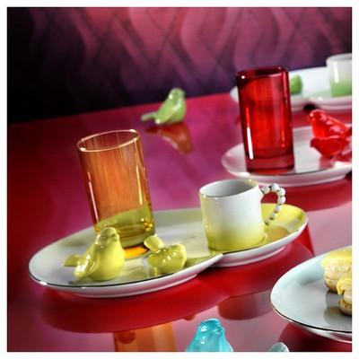Arte Bianco El Yapımı Sarı Ipek Ikram Takımı Çay Seti