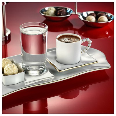 Arte Bianco Kütahya Porselen Limagos Kahve Fincan Seti Çay Seti