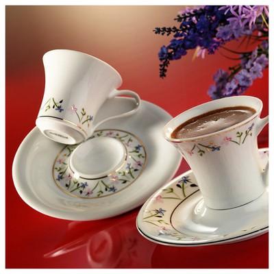 Arte Bianco Nilüfer Kahve Fincan Takımı Çay Seti